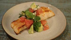 Easy Broiled Salmon with Avocado Grapefruit Salsa Recipe | The Chew - ABC.com