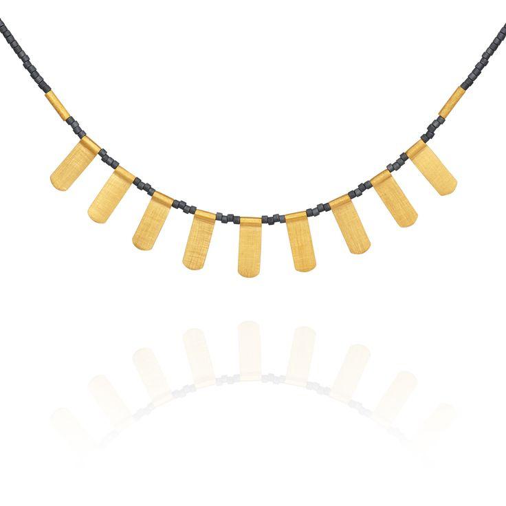TEMPLE OF THE SUN JEWELLERY BYRON BAY - Ren Necklace Grey Seed Bead Gold , $179.00 (http://www.templeofthesun.com.au/ren-necklace-grey-seed-bead-gold/)
