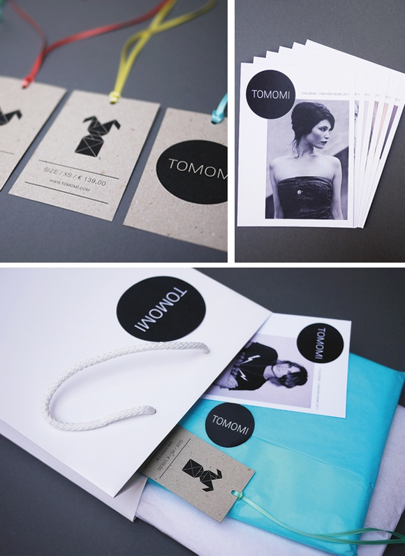 branding and print design for Tomomi Flagship Fashion Store byAre We Design.