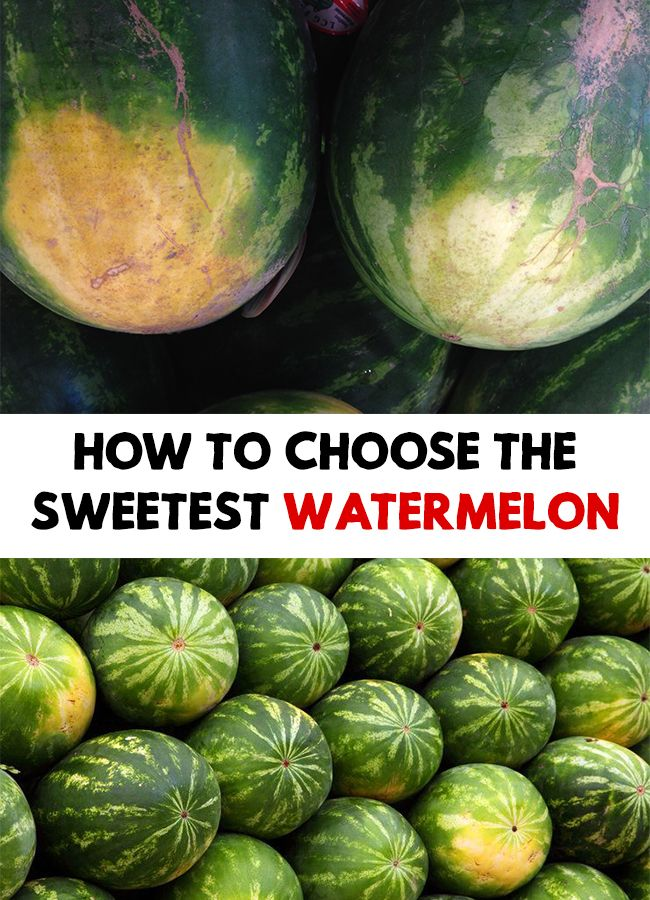 You can never be sure what a watermelon can hide inside. Find out How To Choose The Sweetest Watermelon!