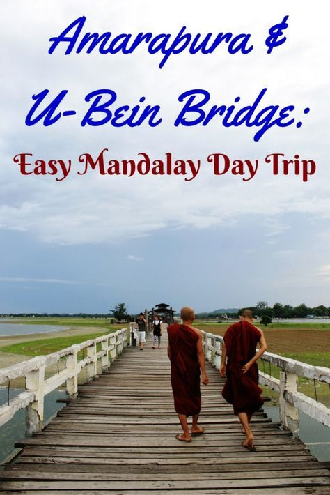 A visit to Amarapura, Sagaing and Inwa is a popular day trip from Mandalay. A private taxi was hired for 28,000 kyat for 4 people. A recommended itinerary begins with a stop at the Mahagandayon Monastery in Amarapura for the lunchtime procession, followed by visits to Sagaing and Inwa, before returning to Amarapura for sunset at U-Bein Bridge. Check out our post & see why Amarapura is the #1 day trip from Mandalay.