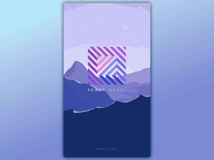 Sqare Badge IOS App by Denys Kurnosov #Design Popular #Dribbble #shots