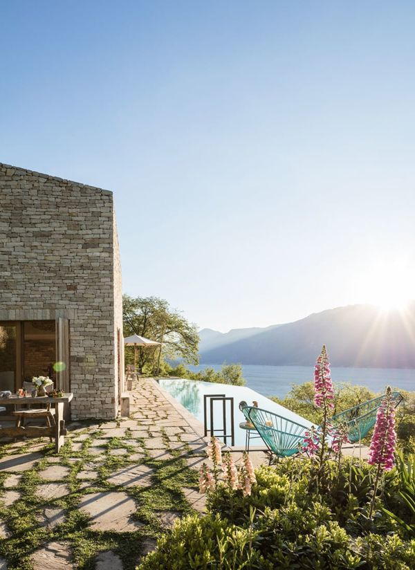 A summer home with views in Lale Garda, Italy.