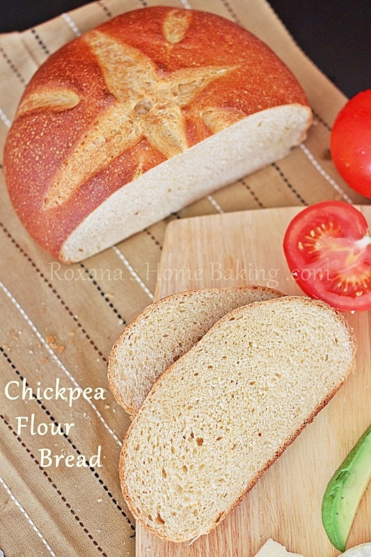Clean Eating. Chickpea flour bread.  Chickpeas can contain up to 28.9 percent protein. A 1/2-cup serving of chickpeas will typically provide 7 g of protein, according to the Centers for Disease Control.