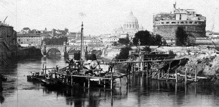 Ponte Umberto I (Pietro Poncini, 1885 ca) Inizio lavori di costruzione del ponte. :)