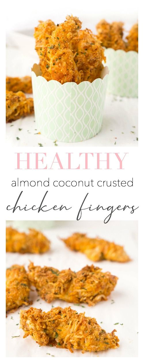 Almond Coconut Crusted Chicken Fingers