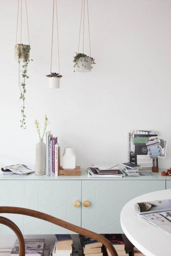 Studio Makeover: Before and After / Avenue Lifestyle // Styling & Photography: Holly Marder {Avenue Lifestyle} / Sideboard: Superfront / Hanging planter pots: Anne Black Ceramics