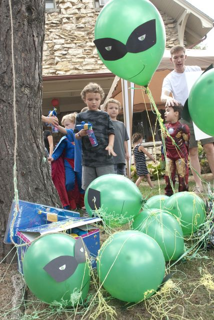 Party Game Ideas: Really fun super hero party games that kids will love and could be used for other kinds of parties.