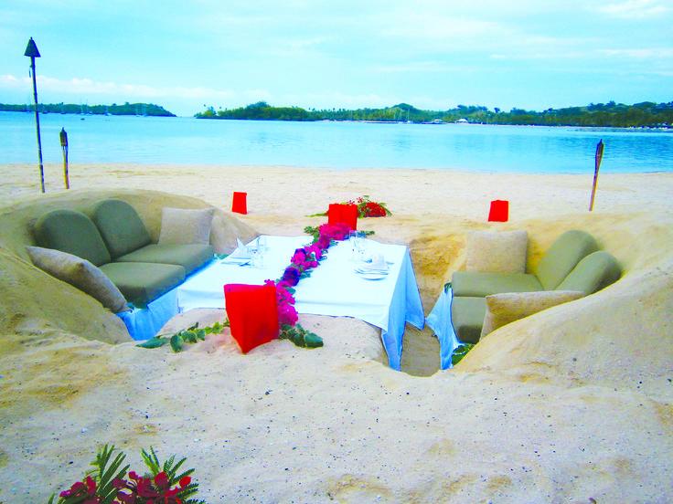 Sand Dining, Plantation Island Resort #Fiji