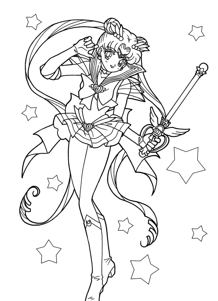 Sailor Moon Coloring Pages Free Online Printable Sheets For Kids Get The Latest Images Favorite