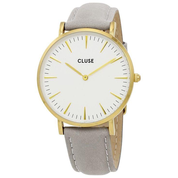 Si estás buscando un reloj de mujer sencillo, elegante y actual, te proponemos uno de los relojes CLUSE. Tienen un precio muy competitivo y además en nuestra web tenemos un 20% de descuento. En la imagen se muestra un diseño con esfera en blanco, caja en dorado y correa de piel gris claro; disponible en http://www.todo-relojes.com/detalle.asp?codigo=29884 por sólo 71€ #relojesCluse #relojesmujer #regalosNavidad #ofertasrelojes #todorelojes