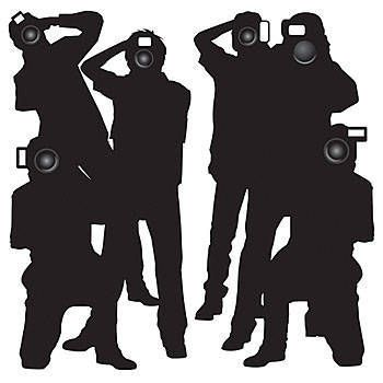 These Hollywood Paparazzi Insta-Theme Props feature 6 silhouettes of paparazzi with their cameras firmly held in hand. Each Paparazzi Scene Setter is made of polyethylene material.