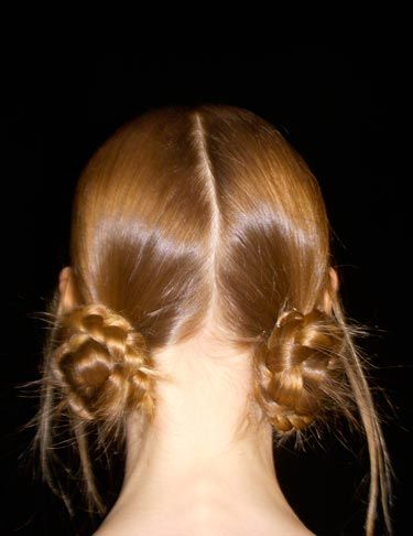 Another easy braids look, courtesy of Marc Jacobs' fall runway show. Beautiful!