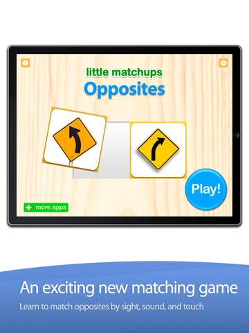 http://itunes.apple.com/es/app/preschool-game-little-matchups/id446659740?mt=8  0,79 €  Categoría: Educación  Publicado: 02/07/2011  Versión: 1.0  Tamaño: 21.9 MB  Idioma: Inglés  Desarrollador: Innovative Investments Limited  © Grasshopper Apps  Clasificado 4+
