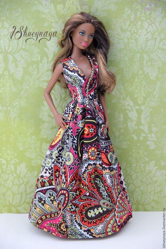 """Одежда для кукол ручной работы. Ярмарка Мастеров - ручная работа. Купить Платье для Барби """"Индийский шик"""". Handmade. Комбинированный"""