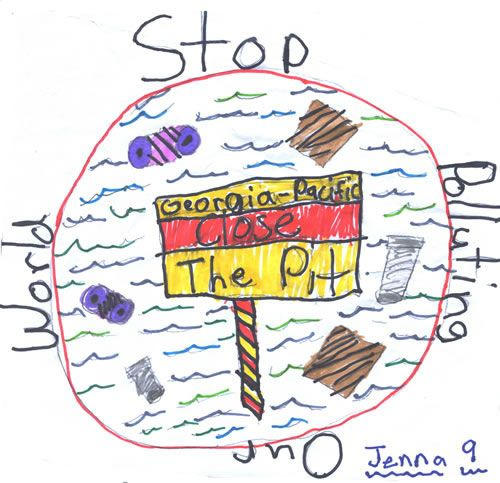 stop pollution drawing