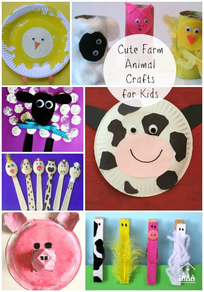 Who doesn't LOVE Farm Animals? Farm animal arts and crafts are so much fun, especially for your younger kids. Fantastic ideas to do at home or in preschool when following a farm theme or farm study unit.