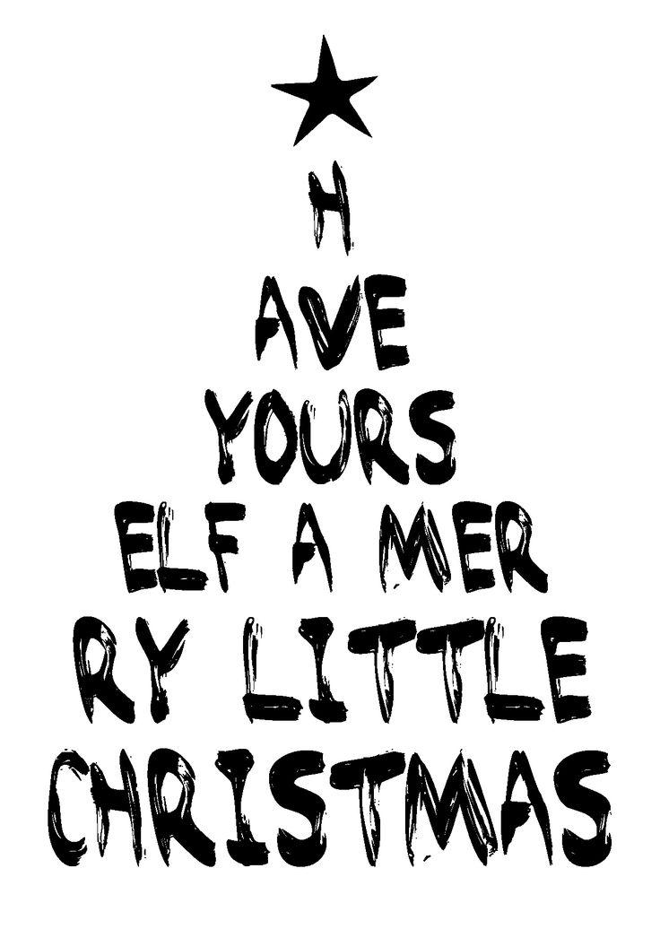 """Kerstkaart Have yourself a merry little Christmas Kerstkaart zwart wit met de bekende quote """"Have yourself a merry little christmas"""" van Studio Inktvis. Zwart wit is de trend van 2014. De collectie be..."""
