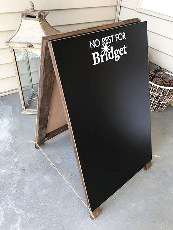 Logo A-Frame Chalkboard, Sandwich Chalkboard, Chalkboard Sign, Logo