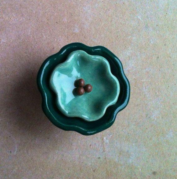 Handmade floral furniture knob, cabinet hardware, drawer pull