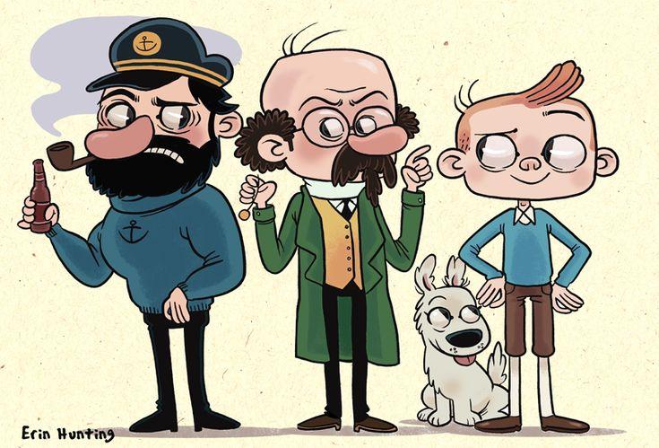 Erin Hunting Illustration: Tintin Crew
