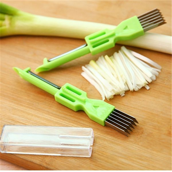 Multifunctional Kitchen Tool Knives Vegetable Cutter Magic Slicer Peeler Shredded Green Onion Knife Green Spring Onion Cutter