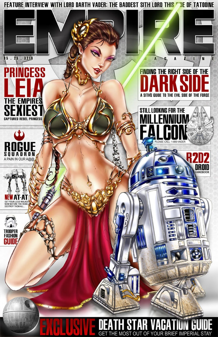 Slave Leia. Empire magazine