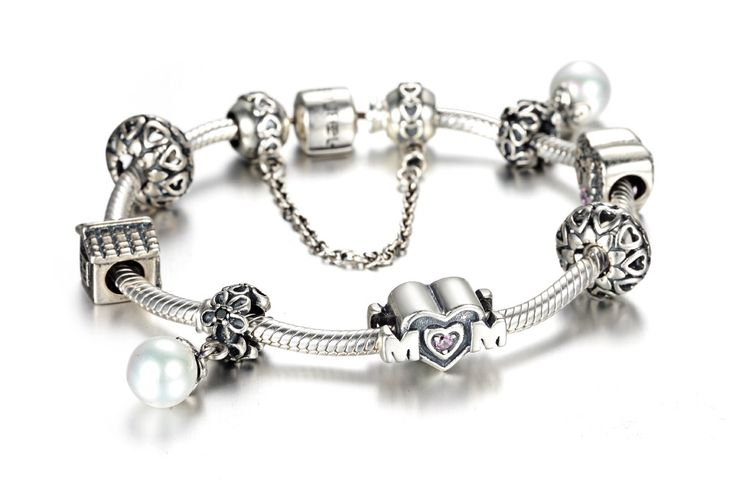 Mother's Day Gift Charm Bracelet 925 Sterling Silver Fit All Brands