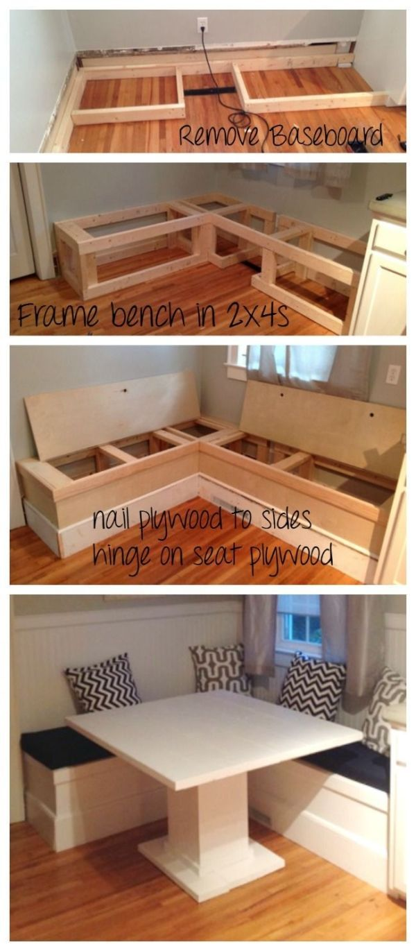 Ana White | DIY Breakfast Nook with Storage - DIY Projects by amelia
