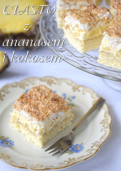 Ciasto ananasowe z kokosem: Pineapple Cake, Inner Betty, Delicious Desserts, Ciasto Ananasow, Baking Treats, Czego Sama, Betty Crocker, Polish Recipe, Polish Food