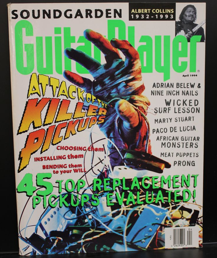 Guitar Player Magazine April 1994 Killer Pickups Cover