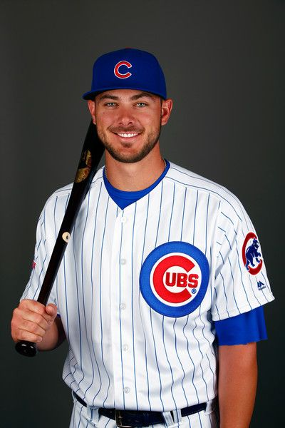 Kris Bryant #17 of the Chicago Cubs poses during a spring training photo shoot on February 29, 2016 in Mesa, Arizona.