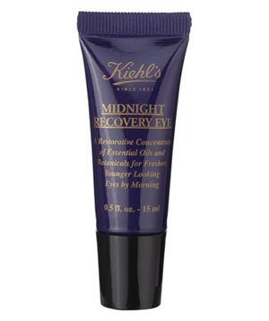Real Simple's guide to the best eye creams. This one is Kiehl's Midnight Recovery Eye - two drops under each eye will do miracles for puffiness and dark circles over night.