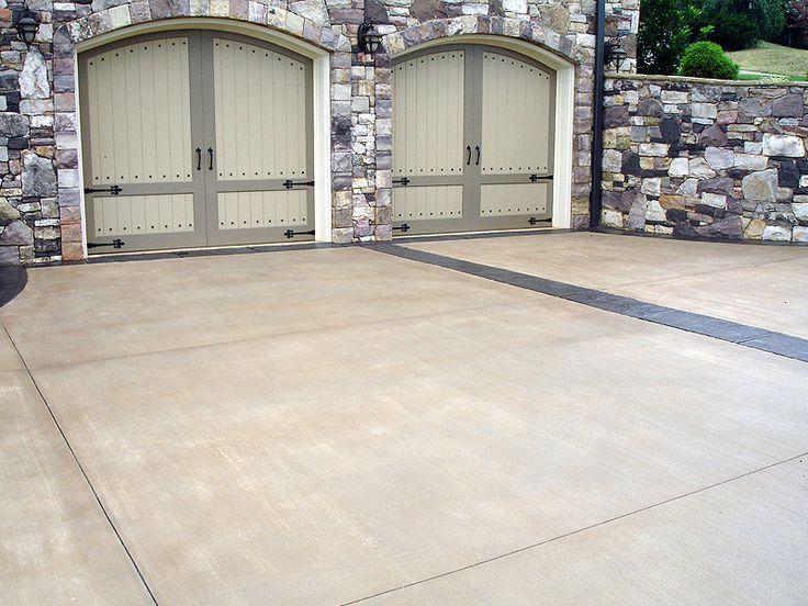 Stamped concrete driveway idea home exterior ideas for Concrete driveway ideas