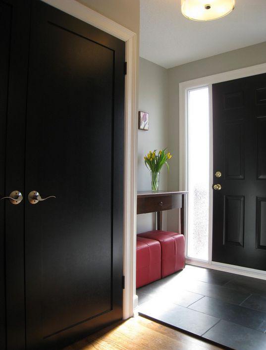 Las 25 mejores ideas sobre puertas negras en pinterest y - Pintar puertas interiores ...