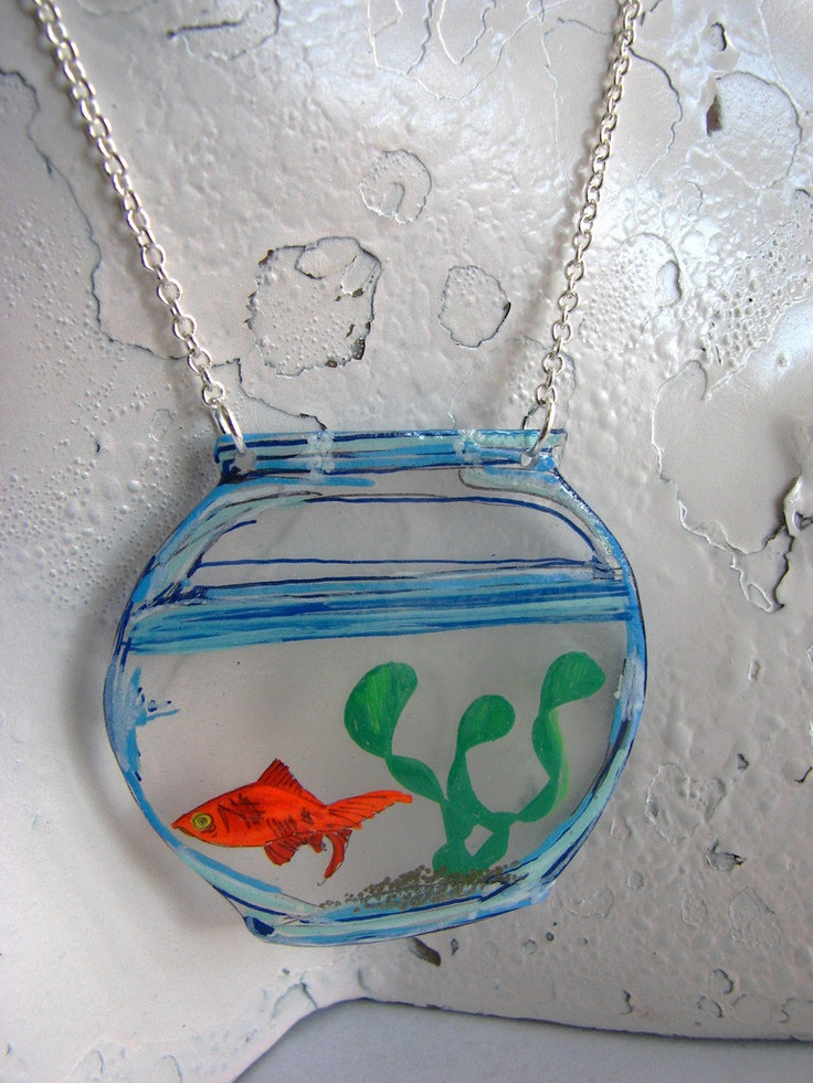 Goldfish Bowl Necklace. $15.00, via Etsy.
