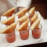 Mini Grilled Cheese and Tomato Soup Appetizers - Coconut Oil Cooking