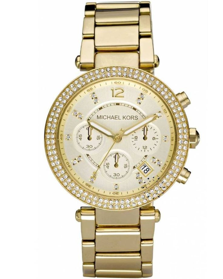 Michael KORS Ladies Chrono Gold Stainless Steel Bracelet