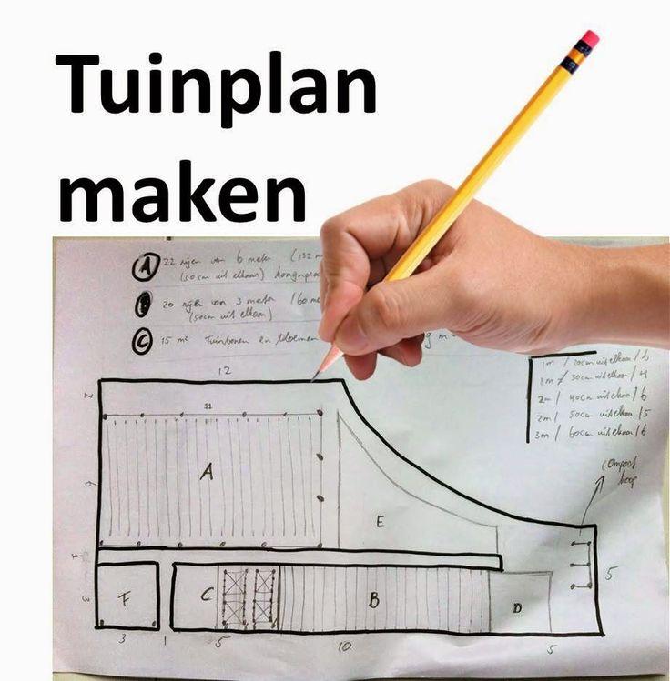 tuinplan maken, hoe maak je een tuinplan