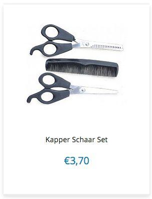 Kapper Schaar Set € 3,70 www.ovstore.nl/nl/meer-categorieen/persoonlijke-verzorging