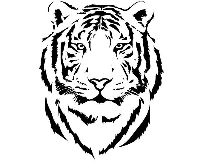 Etsy Your Place To Buy And Sell All Things Handmade Tiger Art Tiger Silhouette Tiger Drawing
