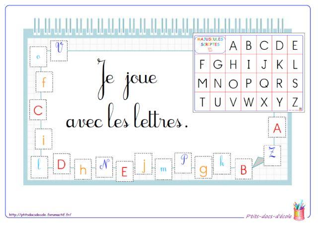 Je joue avec les lettres (cycle 1 et 2) jeu de loto des lettres, différentes polices