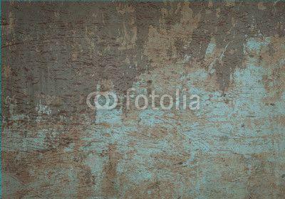 Fotobehang muro - wand - vintage - betonnen • PIXERS.nl