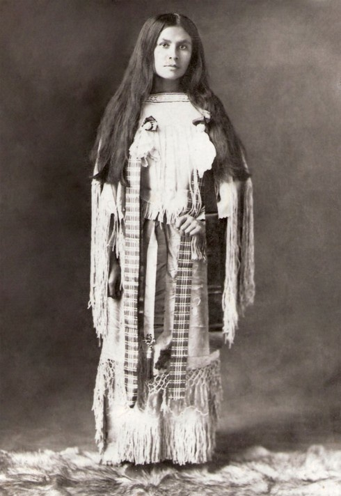 Beautiful Wanada Parker, the daughter of Chief Quanah Parker: