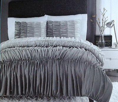 New Cynthia Rowley Ruched Ruffled Comforter Amp Shams