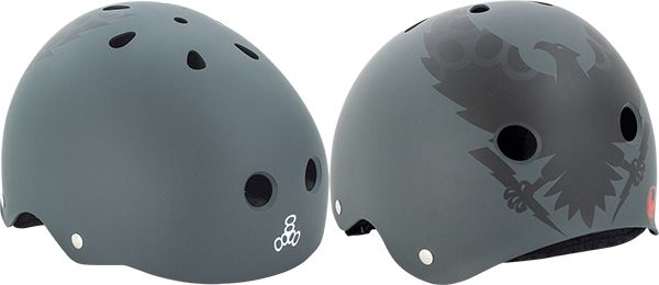 Triple 8 Skateboard Helmet: Vallely Get Used To It Grey Helmet: Of course we have to get this! It's Mike Vallely. This one is sized small in charcoal grey color.