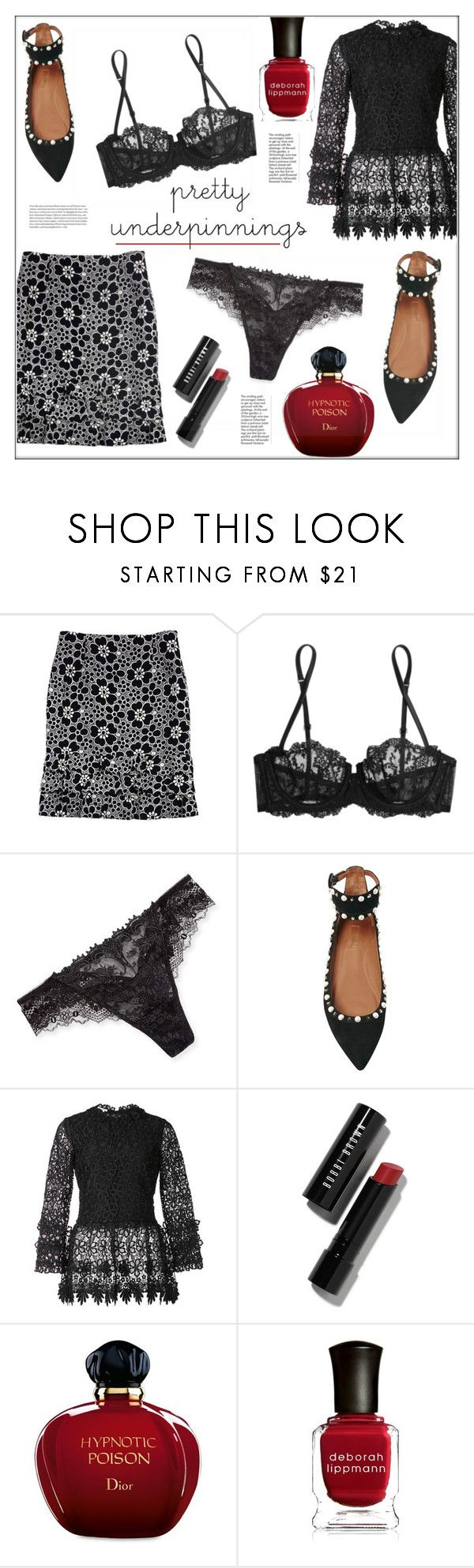 """The Prettiest Underpinnings"" by pat912 ❤ liked on Polyvore featuring Lafayette 148 New York, La Perla, Lise Charmel, Aquazzura, Oscar de la Renta, Bobbi Brown Cosmetics, Christian Dior, Deborah Lippmann, polyore and polyvoreeditorial"