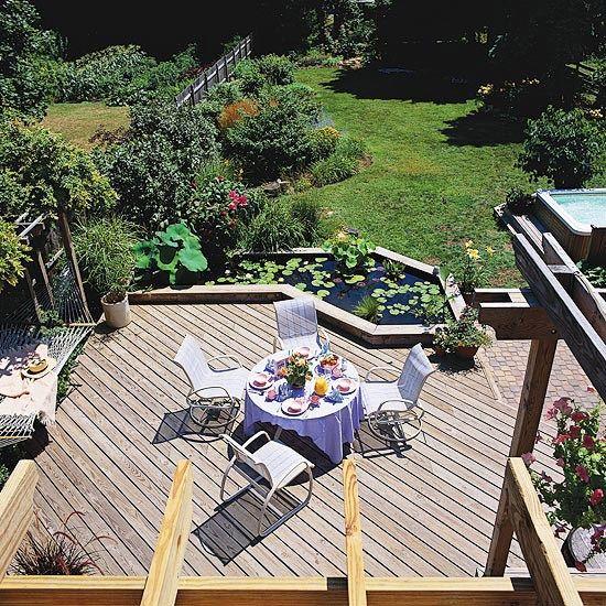 21 best ponds and decks images on pinterest garden ponds for Koi pool water gardens thornton