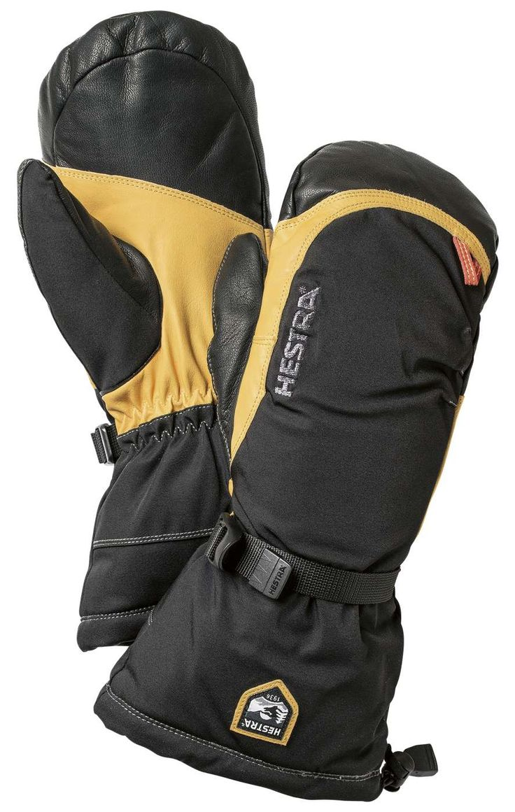 Army Leather Expedition Mitt - Hestra Gloves  Our Mountaineering Collection consists of highly functional, warm models for winter climbing, as well as gloves for summer tours on bare rock.