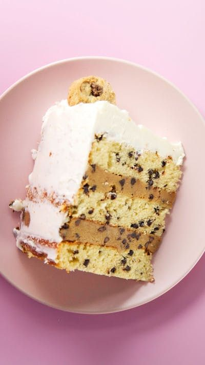 No dunking required when you have layers of chocolate chip cake and chocolate chip frosting all covered in milk icing.